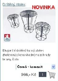 Drátěný stolek